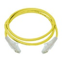 [NCB-6AUYELR1-3] D-Link Cat6A 10G UTP 24 AWG PVC Round Patch Cord - 3m - Yellow Colour