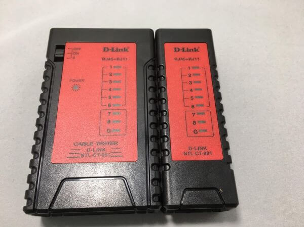 D-Link Cable Tester - Detected Cable Type: RJ-11,RJ-45 , Testing Double Twisted Cables 1,2,3,4,5,6,7,8 and G