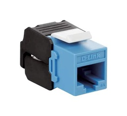 [NKJ-6ABLU1B21] D-Link Cat6A - 10G UTP 180 Tool-less Keystone Jack - Blue Colour