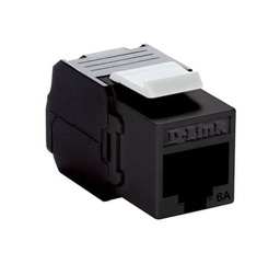 [NKJ-6ABLK1B21] D-Link Cat6A - 10G UTP 180 Tool-less Keystone Jack - Black Colour