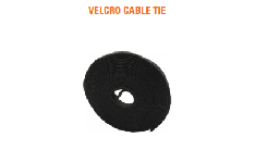 [NVC-025] D-Link Velcro Cable Tie - Width:25mm Length:5m ( Black Colour) with PE Bag