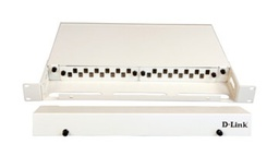 [NLU-FSDLSCR-24] D-Link LIU 24 Port Rack Mount Patch Panel loaded with 12 Duplex SC Single Mode Adapters- Fixed